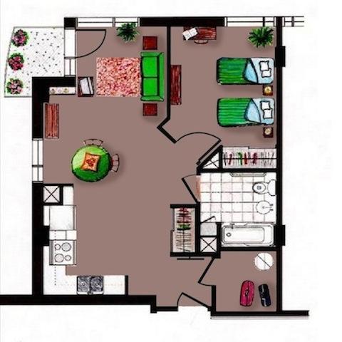 appartement   carrefour rosemont